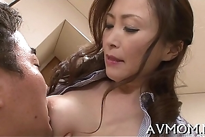 Horny oriental mother i'_d like to fuck enjoys cock