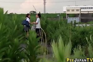 Japanese teens streaming their pants