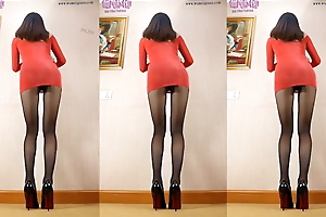 Dance in pantyhose with the addition of heels 26