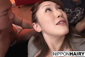 Pretty Japanese girl gets burnish apply gangbang of her gambol