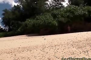 Asian teen strokes cock