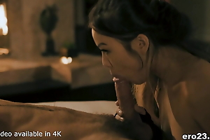 Asian goddess drilled by white big dick
