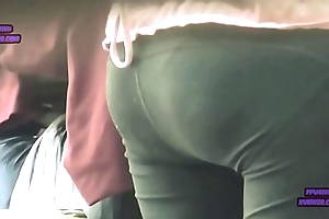 Cute Anticipating Asian MILF Nice Booty Spandex (1)